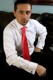 Homme d'affaires sur le divan Image stock