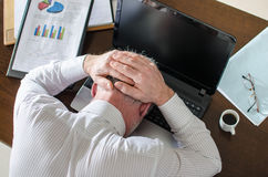 Homme d'affaires surchargé Images stock