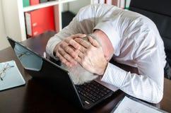 Homme d'affaires surchargé Photos libres de droits