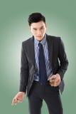 Homme d'affaires tenant un cigare image libre de droits