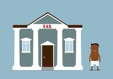 Homme d'affaires tourné faillite après des impôts illustration stock