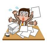 Homme d'affaires très occupé illustration stock