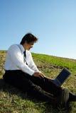 Homme d'affaires travaillant Image libre de droits