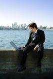 Homme d'affaires travaillant Photo libre de droits