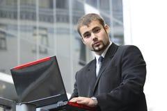 Homme d'affaires travaillant Photos stock
