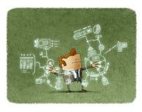 Homme d'affaires travaillant avec de futures technologies Photo stock