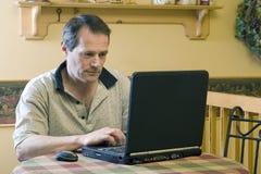 Homme d'affaires travaillant de la maison images libres de droits