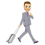 Homme d'affaires Travel Suitcase Image stock