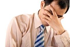 Homme d'affaires triste Photographie stock