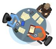 Homme d'affaires trois à la table Images libres de droits