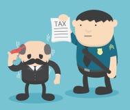 Homme d'affaires Trouble avec des impôts Photos libres de droits