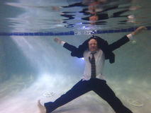Homme d'affaires Underwater Photo libre de droits