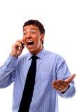 Homme d'affaires utilisant le téléphone portable Images libres de droits