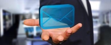 Homme d'affaires utilisant sa boîte aux lettres Photos libres de droits