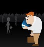 Homme d'affaires utilisant son mobile Photo libre de droits