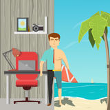 Homme d'affaires On Vacation Concept Image stock