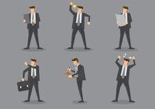 Homme d'affaires Vector Character Set Image libre de droits