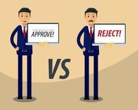 Homme d'affaires Vector Illustration Approuvez et rejetez l'illustration Image libre de droits