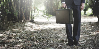 Homme d'affaires vert Environmental Conservation Strategy prévoyant C photos stock