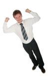 Homme d'affaires victorieux Image stock