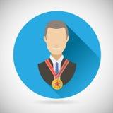 Homme d'affaires Victory Prize Award de succès de gagnant illustration libre de droits