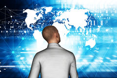 Homme d'affaires In Virtual Reality Illustration Libre de Droits