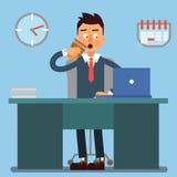 Homme d'affaires Working Day Homme d'affaires au travail illustration stock