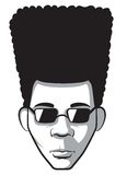 Homme d'Afro Illustration de Vecteur