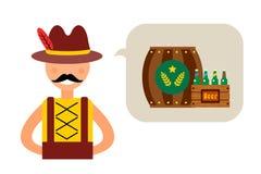 Homme d'Allemand d'Oktoberfest d'illustration de vecteur Photographie stock