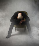 Homme d'Anonimous désespéré Photographie stock
