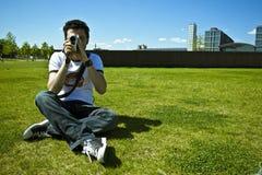 Homme d'appareil-photo Photo libre de droits
