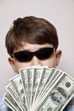 Homme d'argent. Image stock