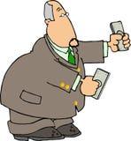 Homme d'argent illustration stock