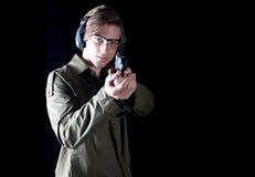 Homme d'arme à feu Image stock