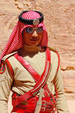 Homme d'armée en Jordanie Images libres de droits