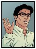 Homme d'art de bandes dessinées Images libres de droits
