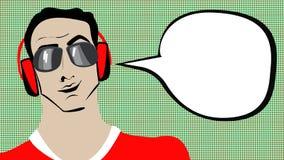 Homme d'art de bruit Image stock