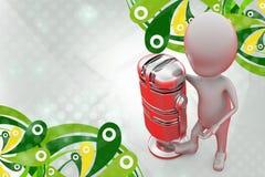 homme 3d avec la grande illustration de MIC Image stock