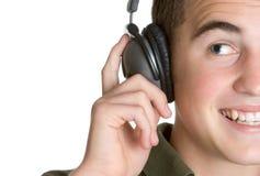 Homme d'écouteurs Photo stock