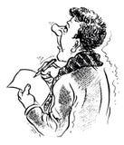 Homme d'écriture Image stock