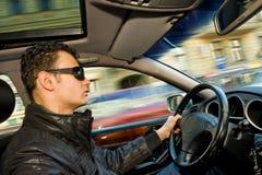 homme d'entraînement de véhicule Photo stock