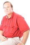 Homme d'isolement sur l'upclose blanc Photographie stock libre de droits