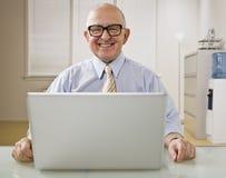 homme d'ordinateur portatif Photo libre de droits