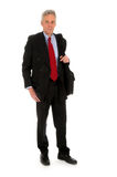 homme d'ordinateur portatif d'affaires Image stock