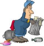 Homme d'ordures Image stock