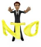 homme 3d sans le concept d'alphabet Photos libres de droits