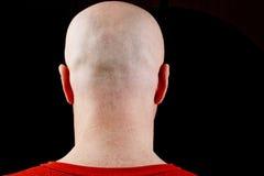 Homme d'une cinquantaine d'années de tête chauve photographie stock libre de droits