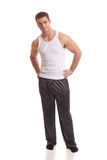 Homme dans des pyjamas photos stock