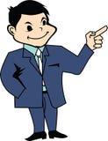 Homme dans l'icône de présentation de costume Image stock