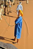 Homme dans l'usage traditionnel de Berber, wa Photo libre de droits
